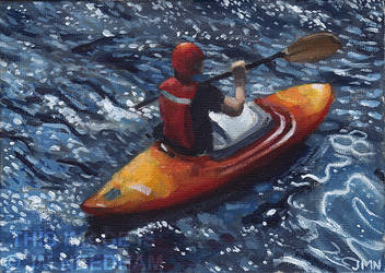 Out on the Water - Man in Canoe