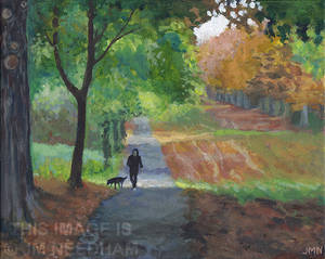 Dog Walking, Autumn