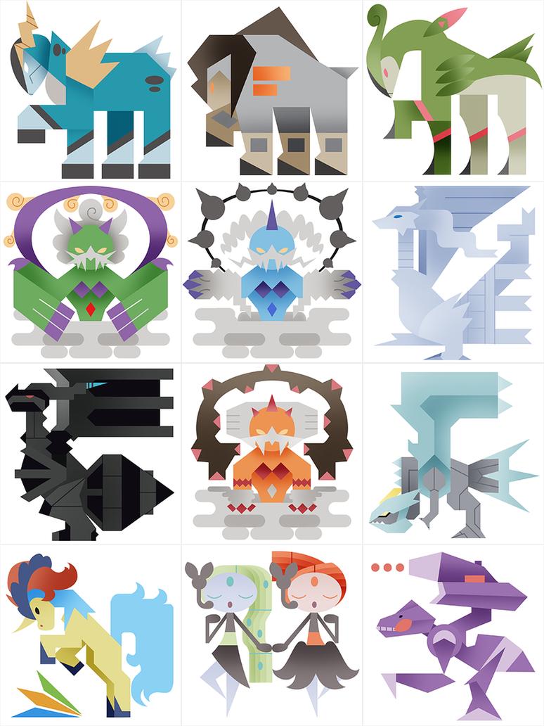 PMH Gen 5 Legendaries by Gryphon-Shifter