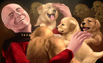 Captain Picard and Puppies