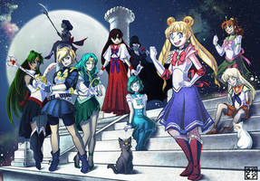 Sailor Senshi by Gryphon-Shifter