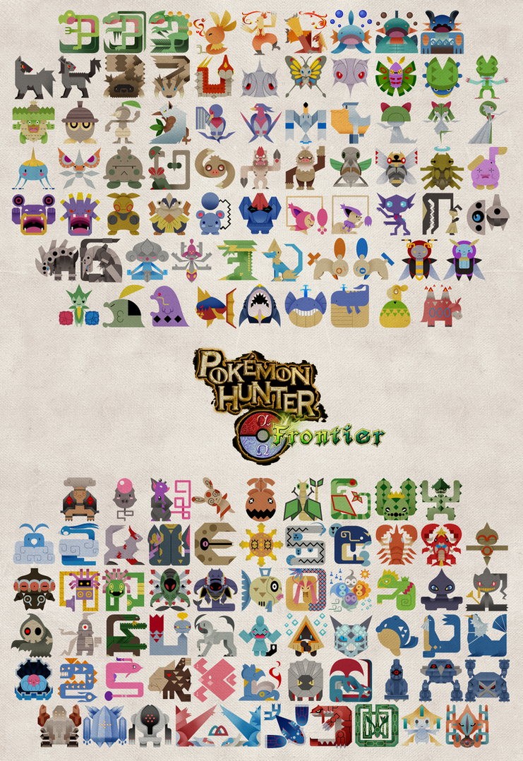 Pokemon Hunter Frontier Poster By Gryphon Shifter On
