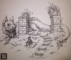 Dragondog by Gryphon-Shifter