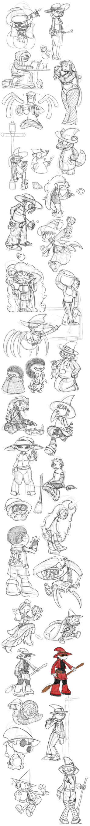 October 2016 sketchdump by Turag