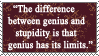 Albert Einstein Quote Stamp2 by Sinister666beauty
