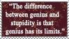 Albert Einstein Quote Stamp2 by Sinister666beauty