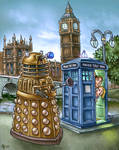 Dalek + Doctor Who