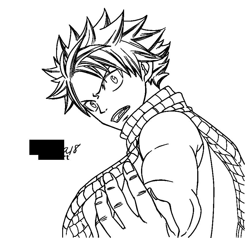Natsu Lineart : Natsu lineart by rosba on deviantart