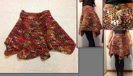 Autumn granny square skirt