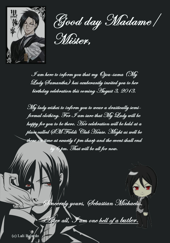 Birthday Invitation by MuggleDirection on DeviantArt