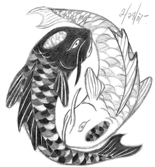 Yin yang koi fish final by ryu tatsu87 on deviantart for Yin and yang koi fish