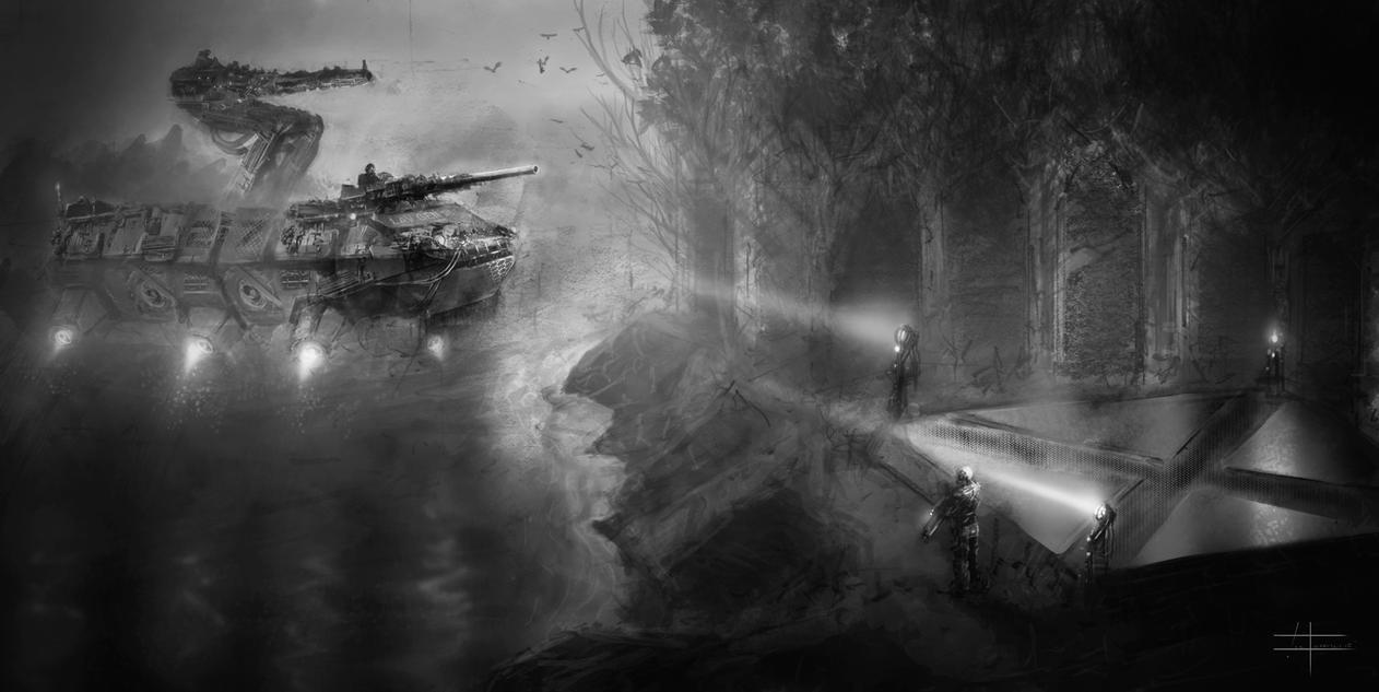 Futuristic Military by zakforeman