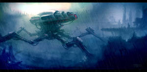 mech sketch rain version