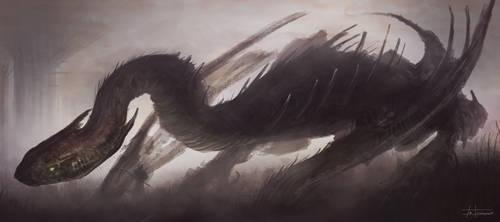 dragon sketch by zakforeman