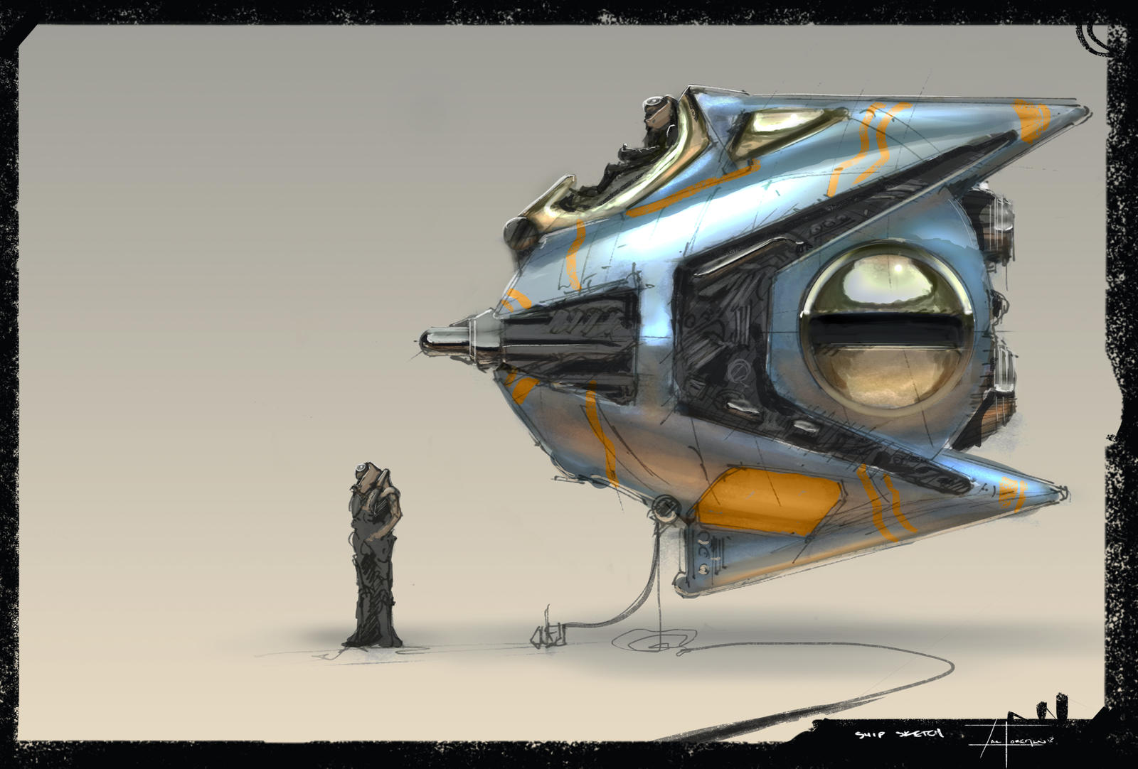 11-15-12 (ship sketch) by zakforeman