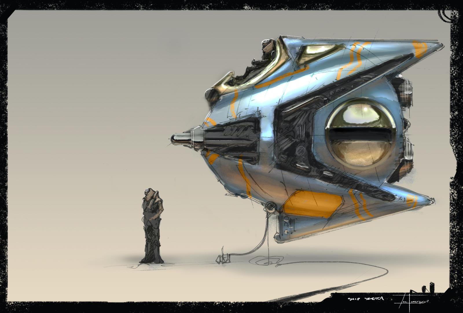 11-15-12 (ship sketch) by zakforeman