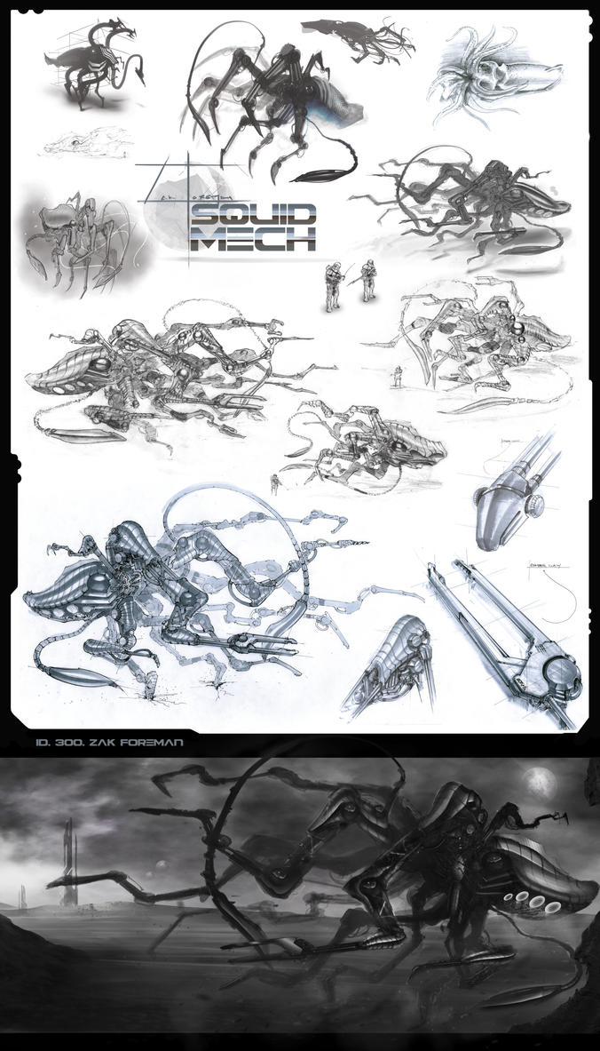 Squid Mech by zakforeman