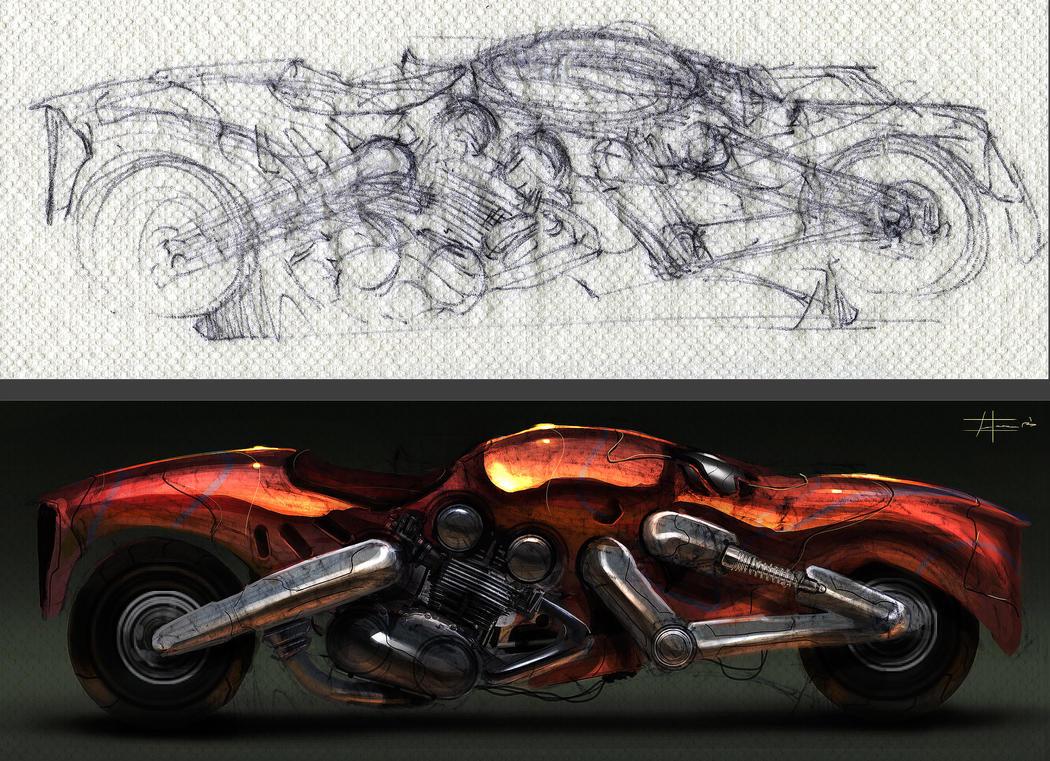 napkin sketch render by zakforeman