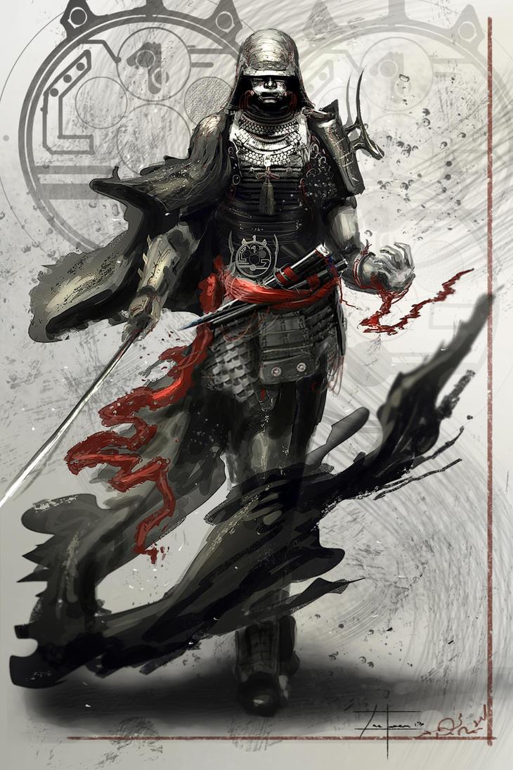 Samurai leader 2 27 13 by zakforeman on deviantart for Female samurai tattoo