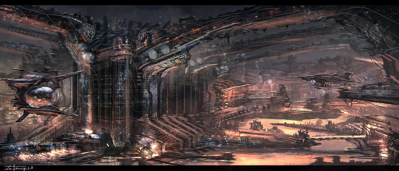 sci fi city (3-21-13) by zakforeman