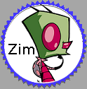 Zim Fan Stamp by xavs-stamps
