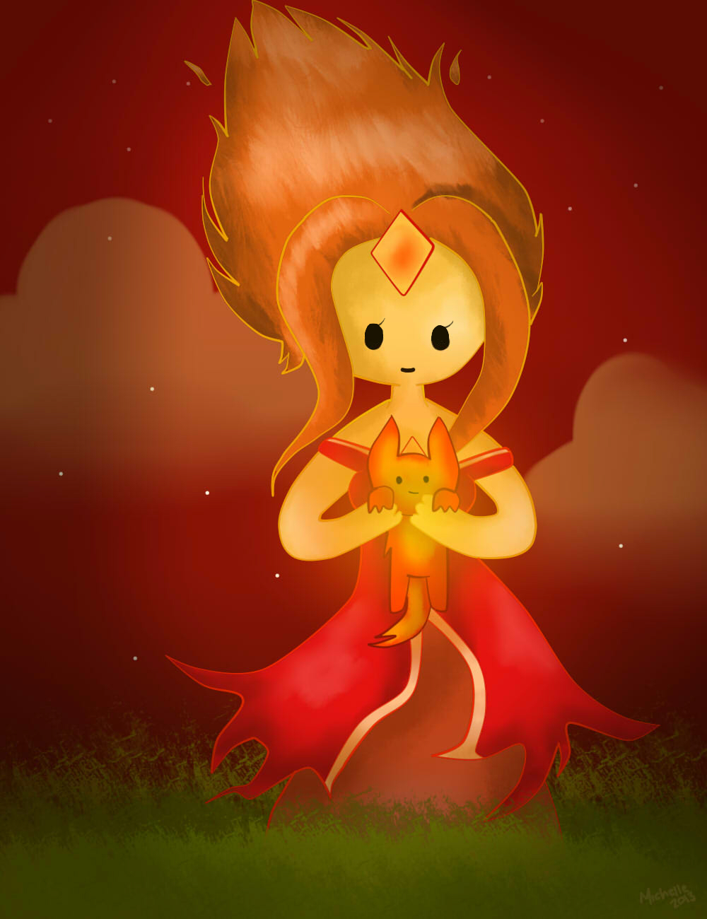 Flame Princess by SynthieRose