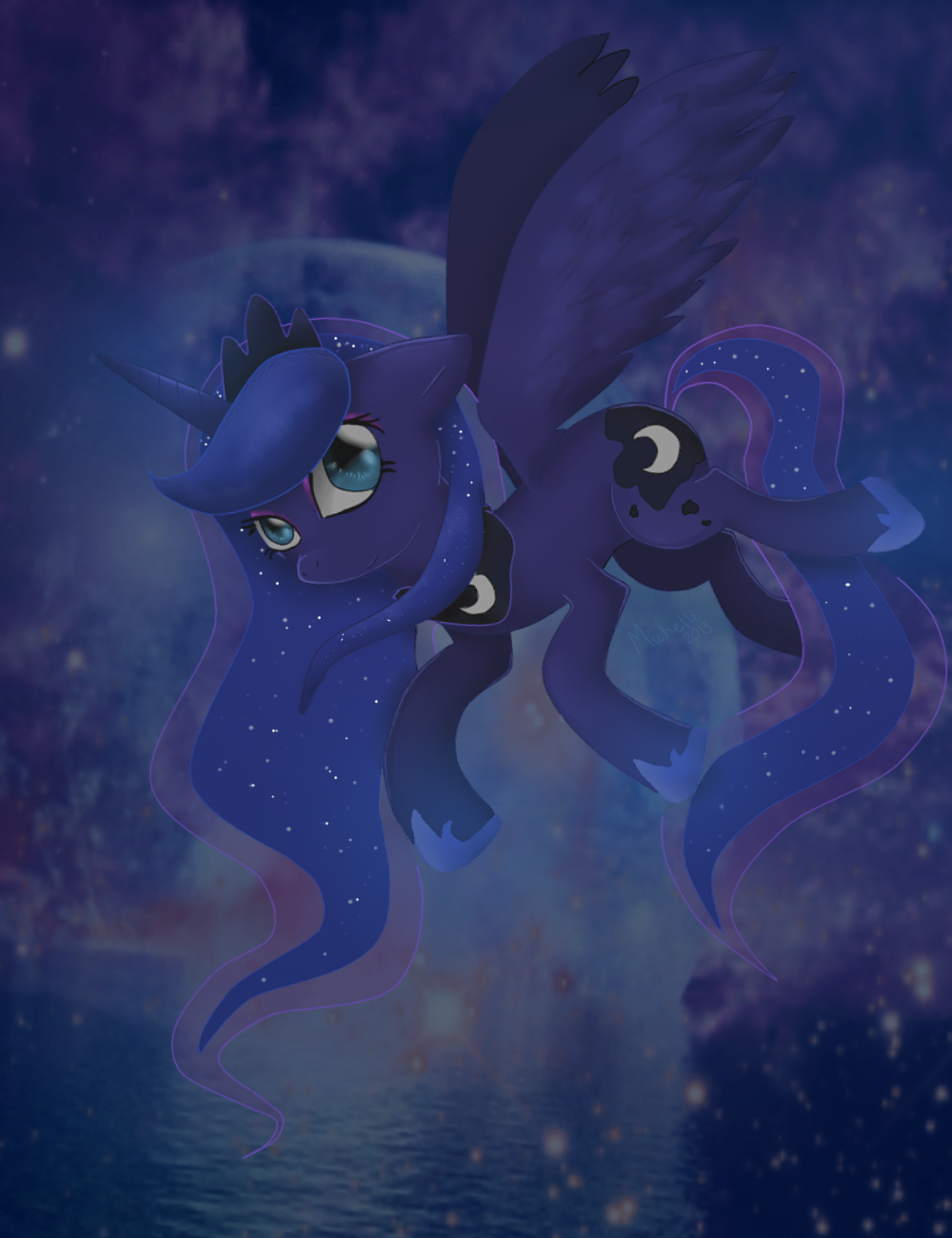 Inspirational Dusk - Luna by SynthieRose