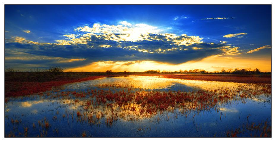 infrared sunset