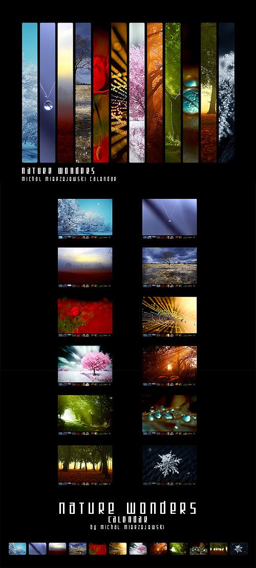 Nature Wonders - Calendar by werol