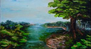 Acrylics - Mini Landscape Painting