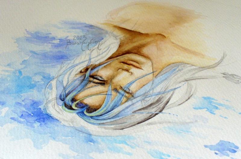 WATERcolor portrait - WIP by barananduen