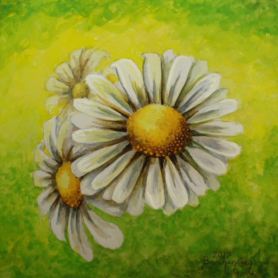 Watercolor - Daisies by barananduen