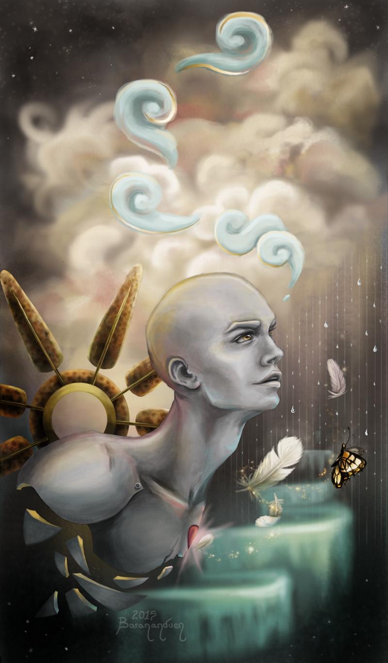 Robot Dreams Human Dreams by barananduen