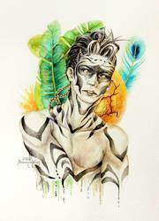Watercolor - Zebra