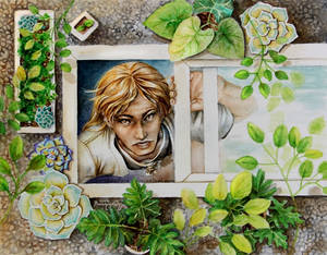Watercolor - BLEACH - Shinji Hirako and the Plants