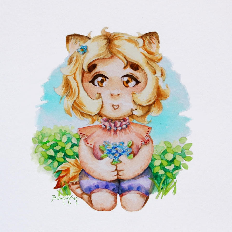 Watercolor - Momo by barananduen