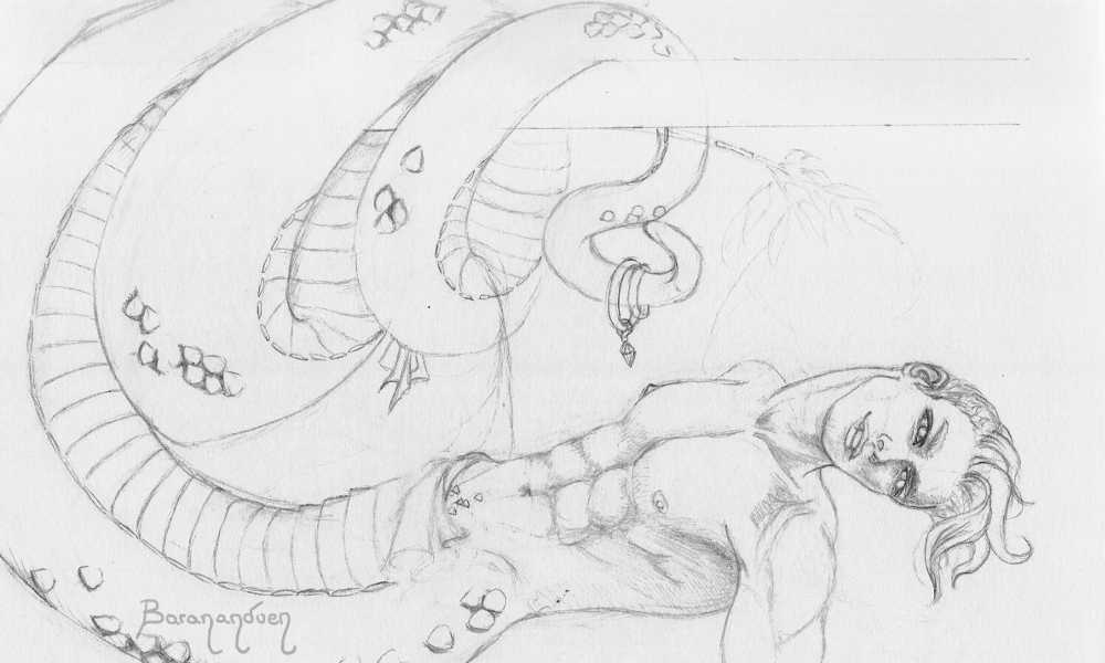 Naga!Toxikk sketch by barananduen