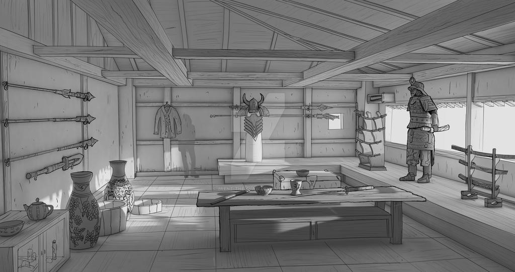 Torre/Casebre Tatsu Samurai_room_sketchup_photoshop_by_brent_the_claw-dausbr1