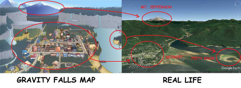 gravity falls map real life theory by byrapp on deviantart