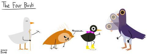 The Four Birds OCs by byrapp