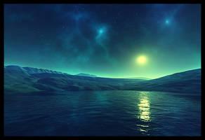 Moonlit Space by xcine