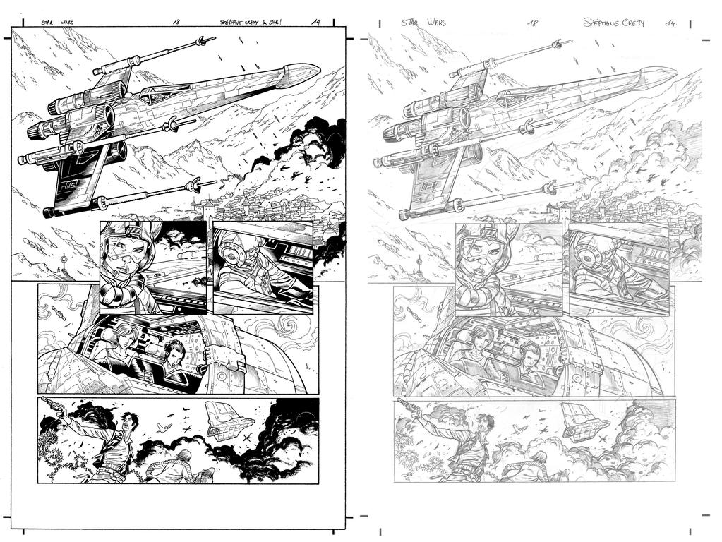 Star Wars 18 p14 with pencils by JulienHB
