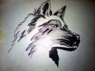 Wolf Sketch by CrissyBlue
