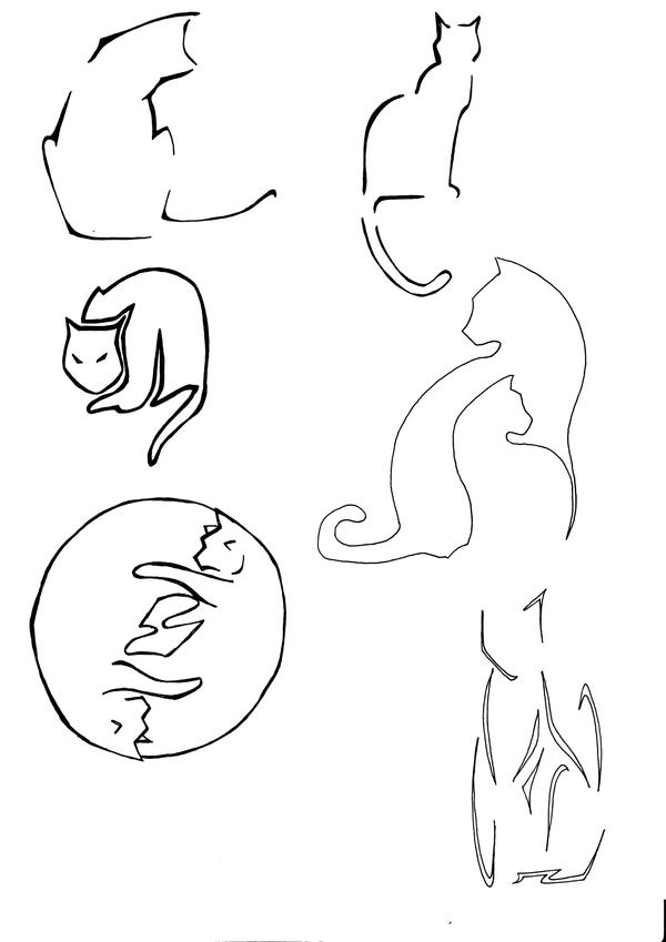 Line Drawing Cat Tattoo : Tattoo cats by nemhulye on deviantart
