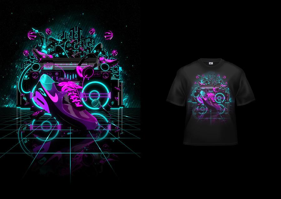 Nike - Glow In The Dark Tee #1 by digimental