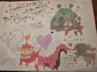 Marriland's Black Wedlocke Final Team by LucarioLily