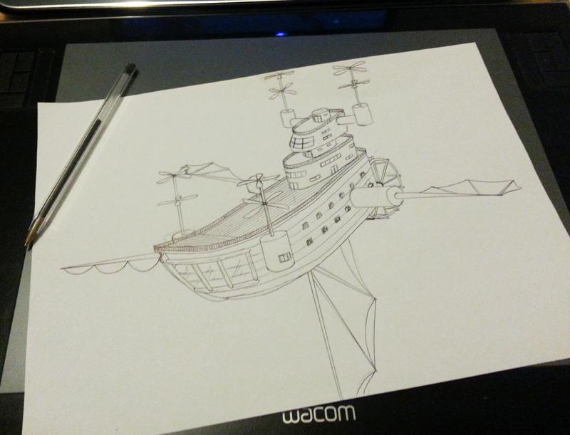 FFD JULY - Airship by Yunaleska1
