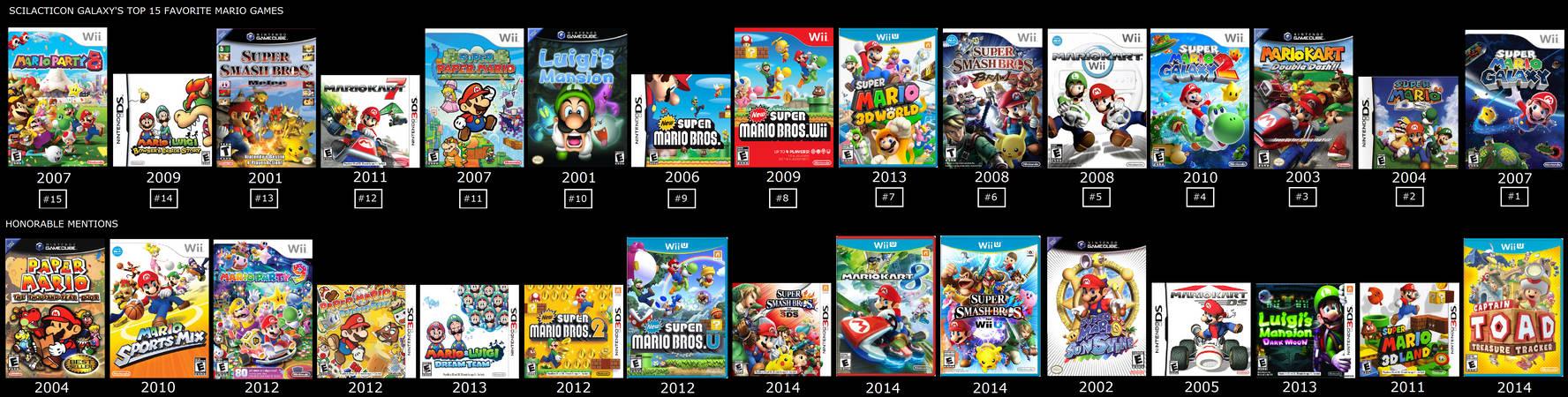 My Top 15 Personal Favorite Mario Games by ScilacticonGalaxy