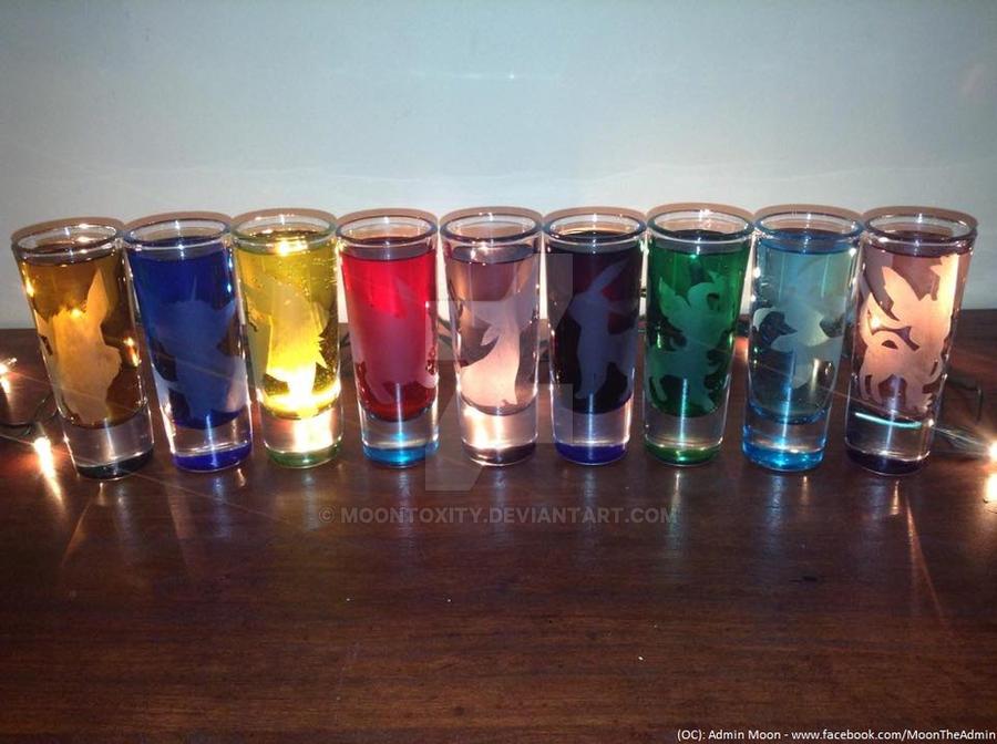 Wonderful Eeveelutions Shot Glasses by Moontoxity on DeviantArt BU78