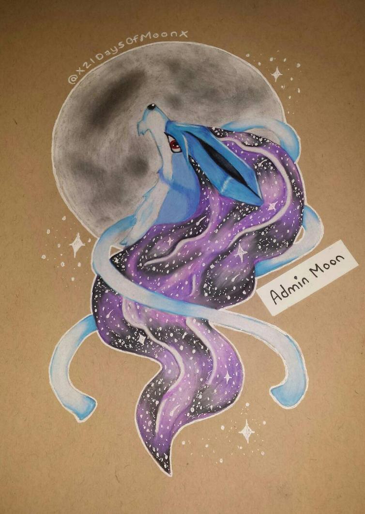 Suicune Galaxy Art  by x21DaysOfMoonX